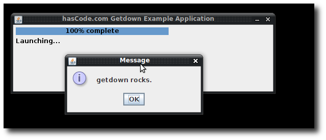 getdown startup screenshot